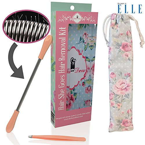 Facial-Hair-Epilator-No-more-expensive-laser-or-wax-treatments-Our-Facial-Hair-Remover-kit-removes-your-unwanted-facial-hair-quickly-and-easily-and-includes-Hair-Removal-Spring-Tweezers-Travel-Bag-0